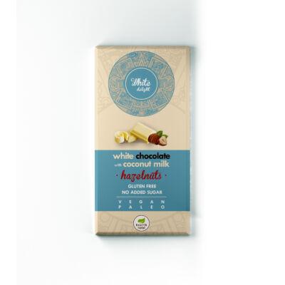Milkless Delight Kókusztejes fehér csokoládé egész mogyoróval, édesítőszerrel