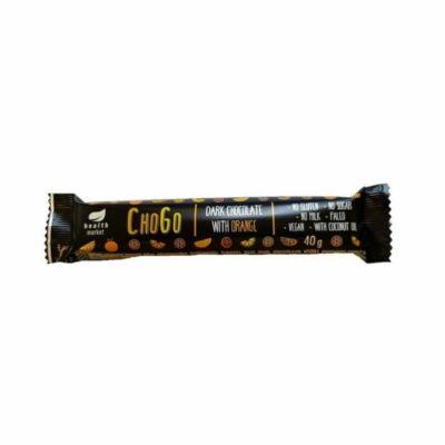 ChoGo étcsokoládé meggyízű krémmel töltve 40g