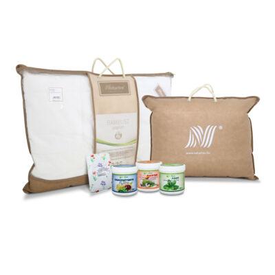 Bambusz párna és takaró (paplan) csomag