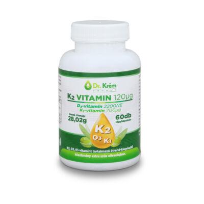 Dr. Krém K2 - D3 - K1 Vitamin lágykapszula 60 db