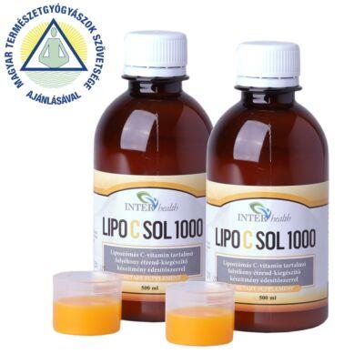 2 db Interhealth Lipo C Sol 1000 folyékony liposzómális C vitamin 500 ml + 250 ml AJÁNDÉK